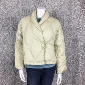 Cuddledown Down Quilted Bed Jacket Cream Sz Small